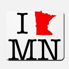 I Love MN Minnesota Mousepad