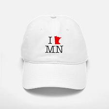 I Love MN Minnesota Baseball Baseball Cap