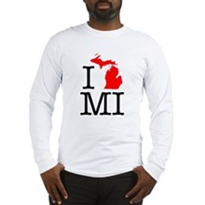I Love MI Michigan Long Sleeve T-Shirt