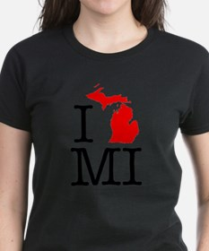 I Love MI Michigan Tee