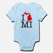 I Love MI Michigan Infant Bodysuit