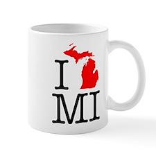 I Love MI Michigan Mug