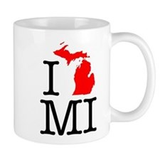 I Love MI Michigan Mug
