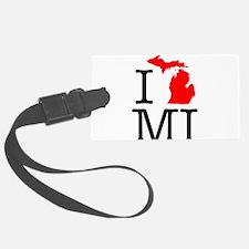 I Love MI Michigan Luggage Tag
