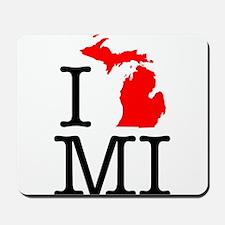 I Love MI Michigan Mousepad