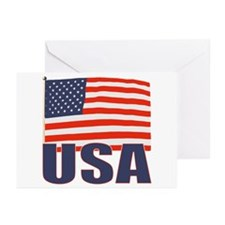 USA flag Greeting Cards (Pk of 20)