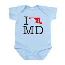 I Love MD Maryland Infant Bodysuit