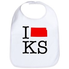 I Love KS Kansas Bib