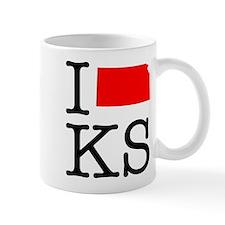 I Love KS Kansas Mug