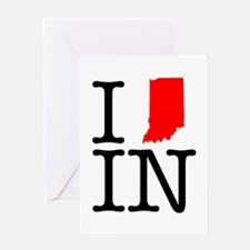 I Love IN Indiana Greeting Card