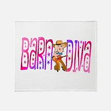 Funny Barnyard Diva Throw Blanket