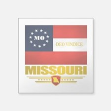 "Missouri Deo Vindice Square Sticker 3"" x 3"""