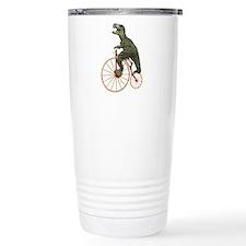 Tyrannosaurus Rex Penny Farthing Travel Mug