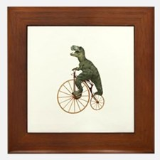 Tyrannosaurus Rex Penny Farthing Framed Tile