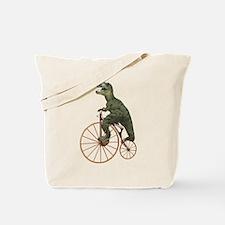 Tyrannosaurus Rex Penny Farthing Tote Bag
