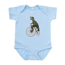 Tyrannosaurus Rex Penny Farthing Infant Bodysuit