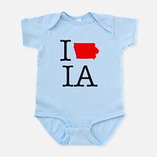 I Love IA Iowa Infant Bodysuit