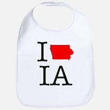 I Love IA Iowa Bib