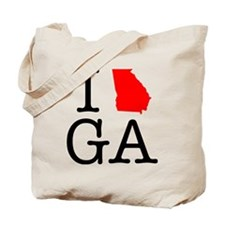 I Love GA Georgia Tote Bag