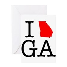 I Love GA Georgia Greeting Card