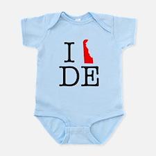 I Love DE Delaware Infant Bodysuit
