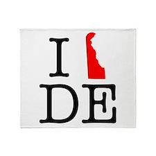 I Love DE Delaware Throw Blanket