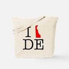 I Love DE Delaware Tote Bag