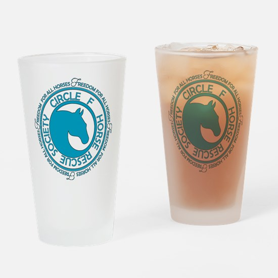 Circle F Horse Rescue Society Drinking Glass