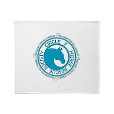 Circle F Horse Rescue Society Throw Blanket