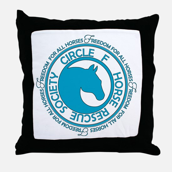 Circle F Horse Rescue Society Throw Pillow
