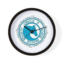 Circle F Horse Rescue Society Wall Clock