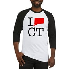 I Love CT Connecticut Baseball Jersey