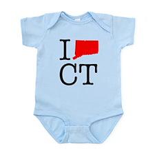 I Love CT Connecticut Infant Bodysuit