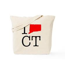 I Love CT Connecticut Tote Bag