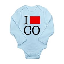 I Love CO Colorado Long Sleeve Infant Bodysuit