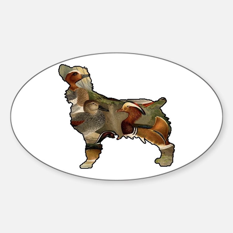 Boykin and Ducks Sticker (Oval)