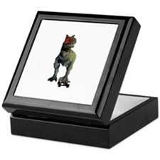Skateboarding T-Rex Keepsake Box
