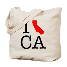 I Love CA California Tote Bag