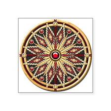 """Native American Rosette 02 Square Sticker 3"""" x 3"""""""