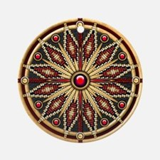 Native American Rosette 02 Ornament (Round)