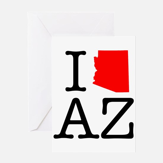 I Love AZ Arizona Greeting Card