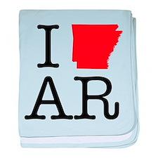 I Love AR Arkansas baby blanket