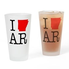I Love AR Arkansas Drinking Glass