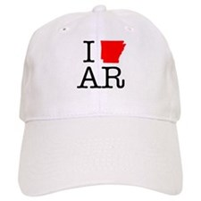 I Love AR Arkansas Baseball Cap