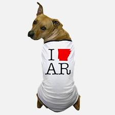 I Love AR Arkansas Dog T-Shirt