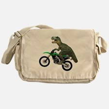 Dirt Bike Wheelie T Rex Messenger Bag