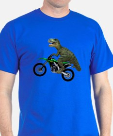 Dirt Bike Wheelie T Rex T-Shirt