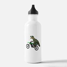 Dirt Bike Wheelie T Rex Water Bottle