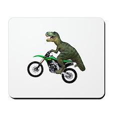 Dirt Bike Wheelie T Rex Mousepad
