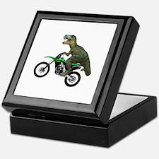 Dirt Bike Wheelie T Rex Keepsake Box